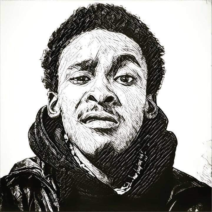 myckee, milan lj, portrait, sketch, black and white, mauritius
