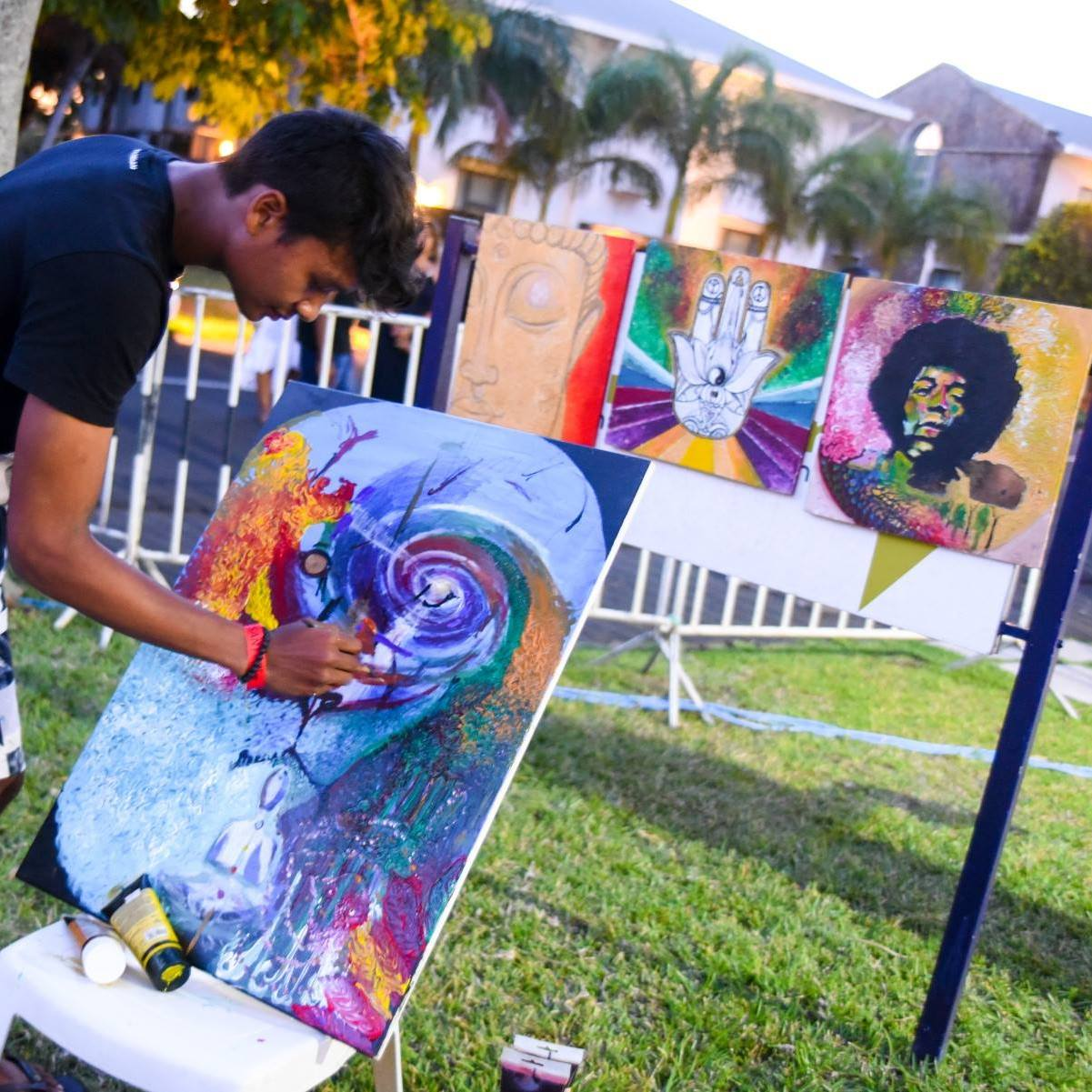 live painting, mauritius, jp l'artiste, pompeia, trippy, psychedelic, best