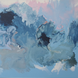 Acrylic, Canva, Blue, Art, water, color, effect