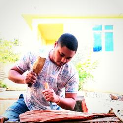 Jacques-Henri Dick, Mauritian artist, wood sculpting, artisan, arts and crafts